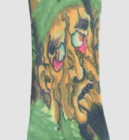 Man green fake tattoo sleeves accessory