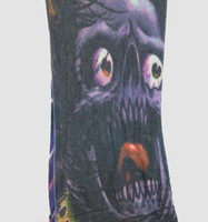 Skull purple fake tattoo sleeves accessory