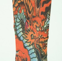 Dragon orange fake tattoo sleeves accessory