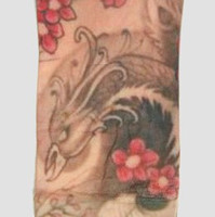 Phoenix flower fake tattoo sleeves accessory