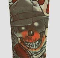 Skull hat fake tattoo sleeves accessory