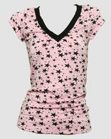 Star pink-black fashion t-shirt