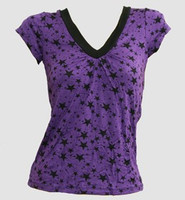 Stars purple fashion t-shirt