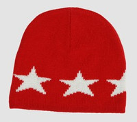 Stars red-white stars beanie