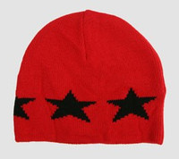 Stars red-black stars beanie