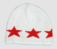Stars white-red stars beanie