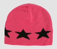 Stars pink-black stars beanie