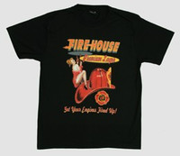 Fire house pin up t-shirt