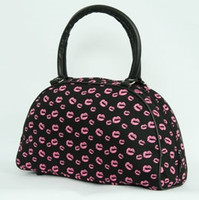 Lips pink medium bowling bag