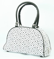 Stars white medium bowling bag