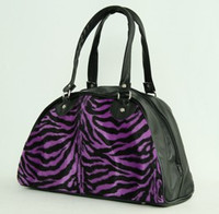 Zebra purple medium bowling bag