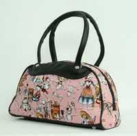 Skelet pink medium bowling bag