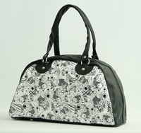 Carper black-white medium bowling bag