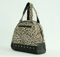 Leopard brown medium bowling bag