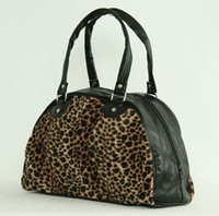 Leopard D brown medium bowling bag