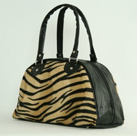 Zebra brown medium bowling bag