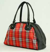 Scotch red-white medium bowling bag