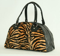 Zebra orange medium bowling bag