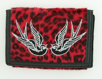 Leopard red swallow wallet standard wallet