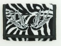 Zebra white swallow wallet standard wallet