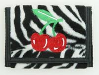 Zebra white cherry wallet standard wallet