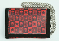 Skull spider black-red mixed with chain wallet