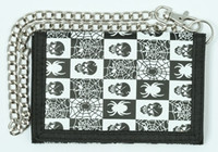 Skull spider black-white mixed with chain wallet
