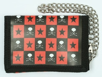 Skull check star mixed with chain wallet