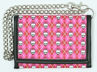 Classic cute pink red mixed with chain wallet