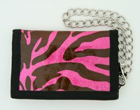 Zebra pink mixed with chain wallet
