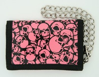 Skulls pink mixed with chain wallet