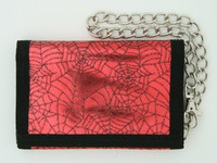 Spider red mixed with chain wallet