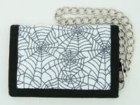 Spider white mixed with chain wallet