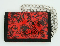Carper red mixed with chain wallet