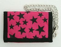 Stars pink mixed with chain wallet