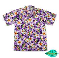 Foam purple hawaii shirt