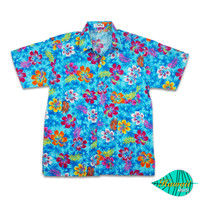 Fullibiscus blue hawaii shirt