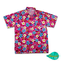 Mixed fLower pink hawaii shirt