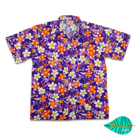 Mixed flower purple hawaii shirt