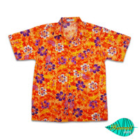 Fullibiscus orange hawaii shirt