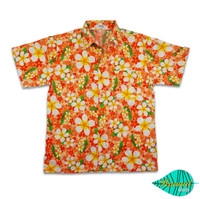 Foam orange hawaii shirt