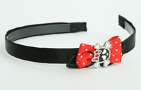Black-red / cute Sk bone black-red Red bow & skull