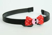 Black-red / skull plain pink red bow & skull