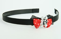 Black-red / cute Sk bone black-pink red bow & skull