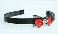 Black-red / skull cross eye white-black red bow & skull