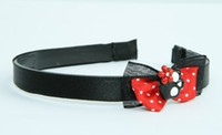 Black-red / skull flower black-red Red bow & skull