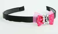 Pink / cute sk bone pink dark pink bow & skull