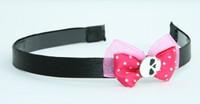 Pink / skull plain white dark pink bow & skull