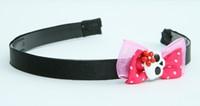 Pink / skull flower white-red dark pink bow & skull