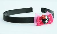 Pink / skull flower black-red dark pink bow & skull